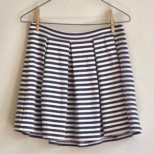 AEO Striped Pleated Circle Skirt